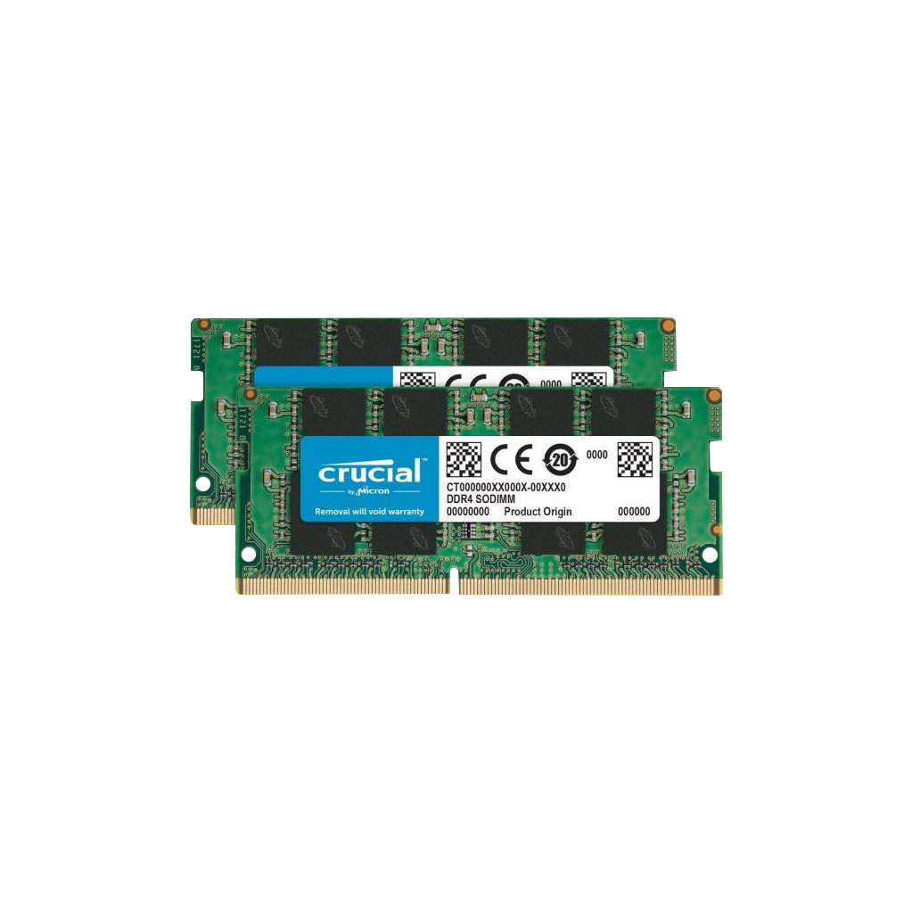 Crucial 16GB DDR4 SODIMM 2400 MHz Kit (2x8GB) Intern geheugen
