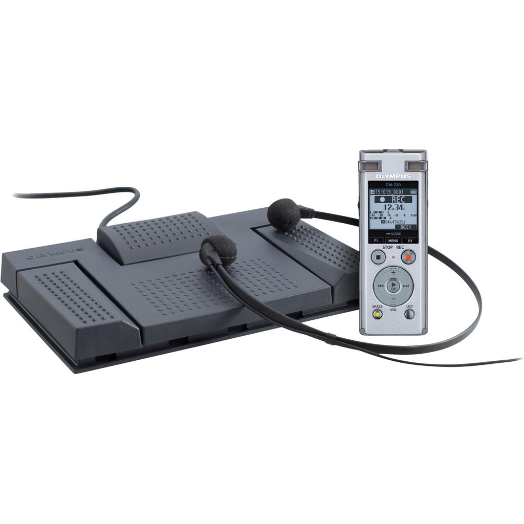 Olympus DM-720 Record and Transcribe Kit Voicerecorders