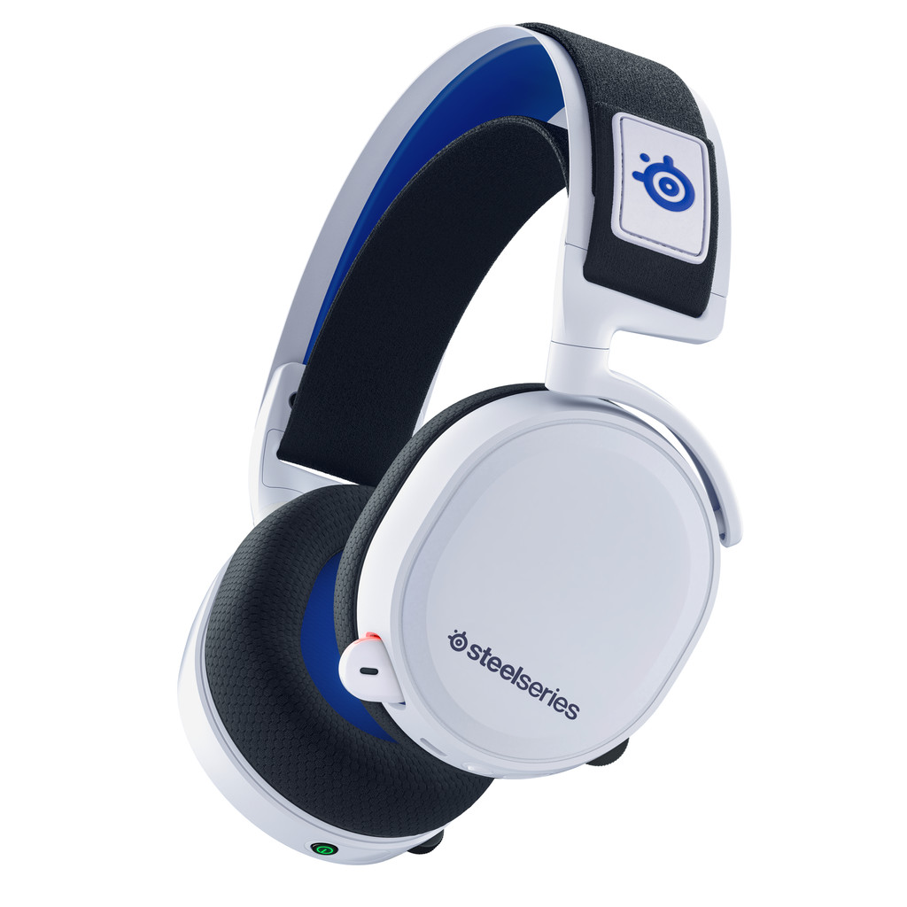 SteelSeries Arctis 7P Draadloze Gaming Headset PS4/PS5 Wit Gaming headsets