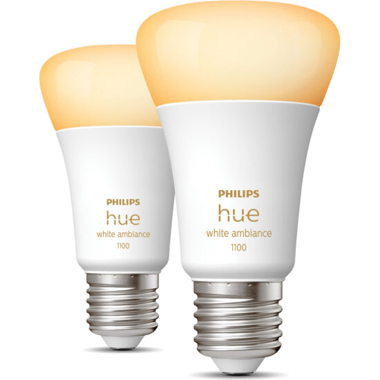Philips Hue White Ambiance E27 10.5W Duo pack Smart lampen